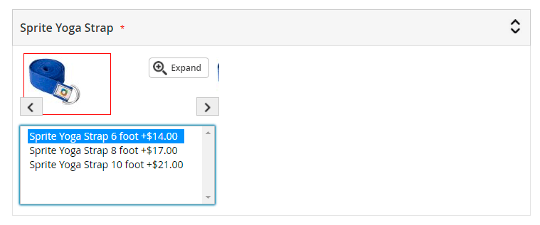 Slide images in multi-select options