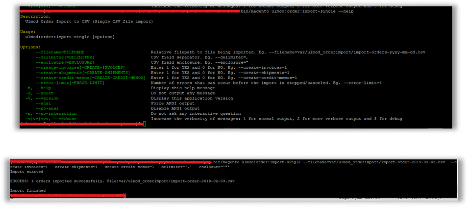 Single CSV file import from the command line