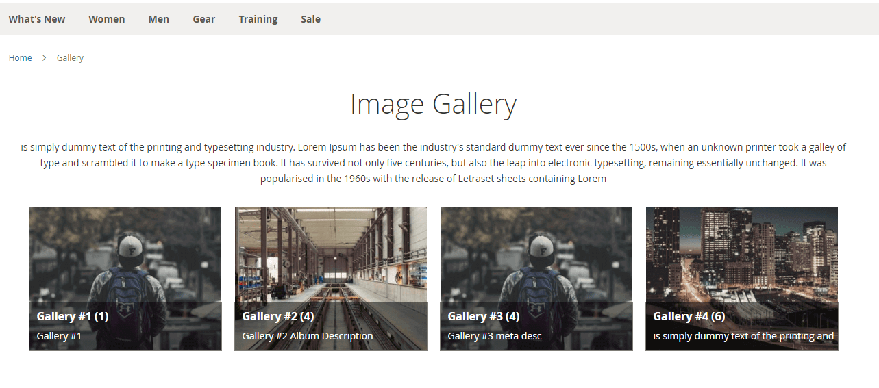 Name and description moved on gallery item