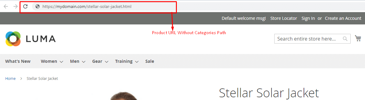 Product URL without categories path