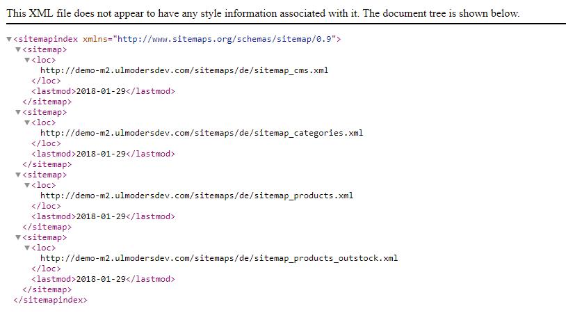 Sitemap index that list all sitemaps