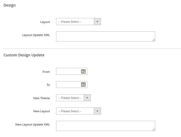 Post design settings