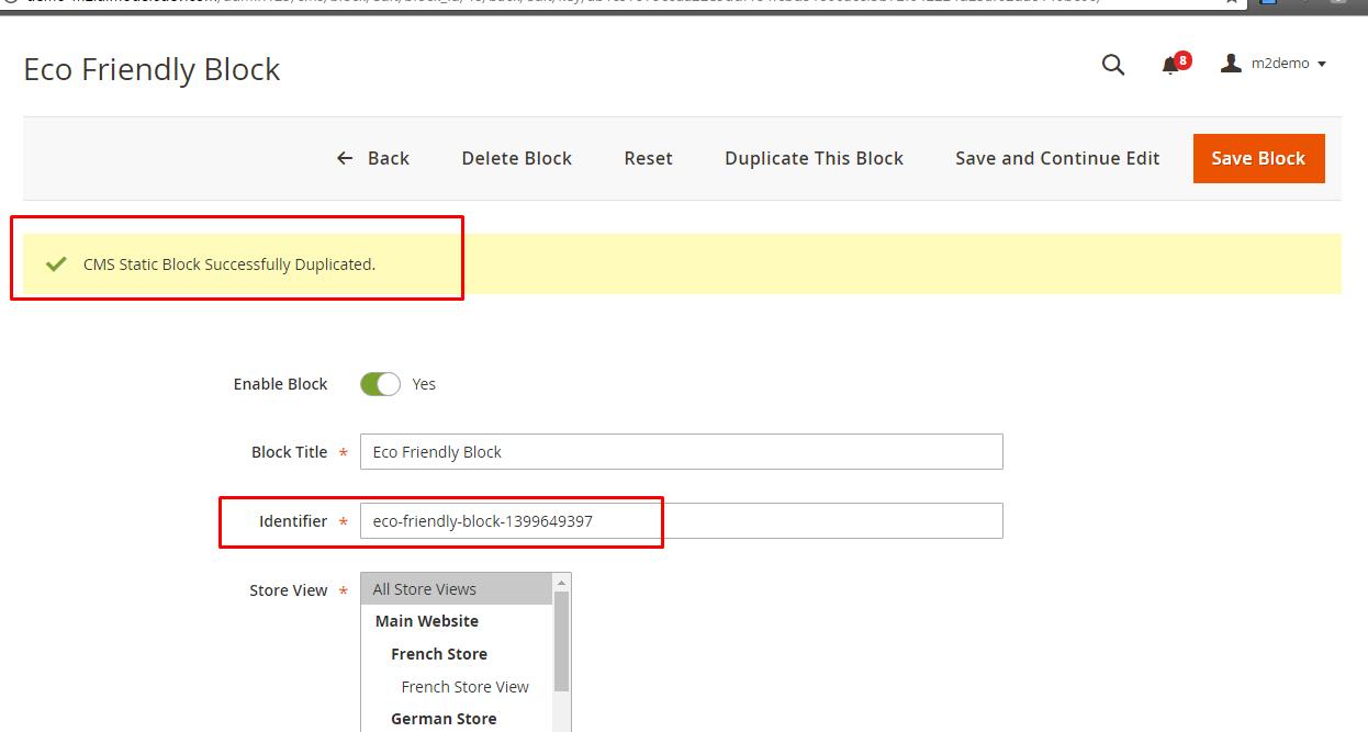 Duplicate cms block result