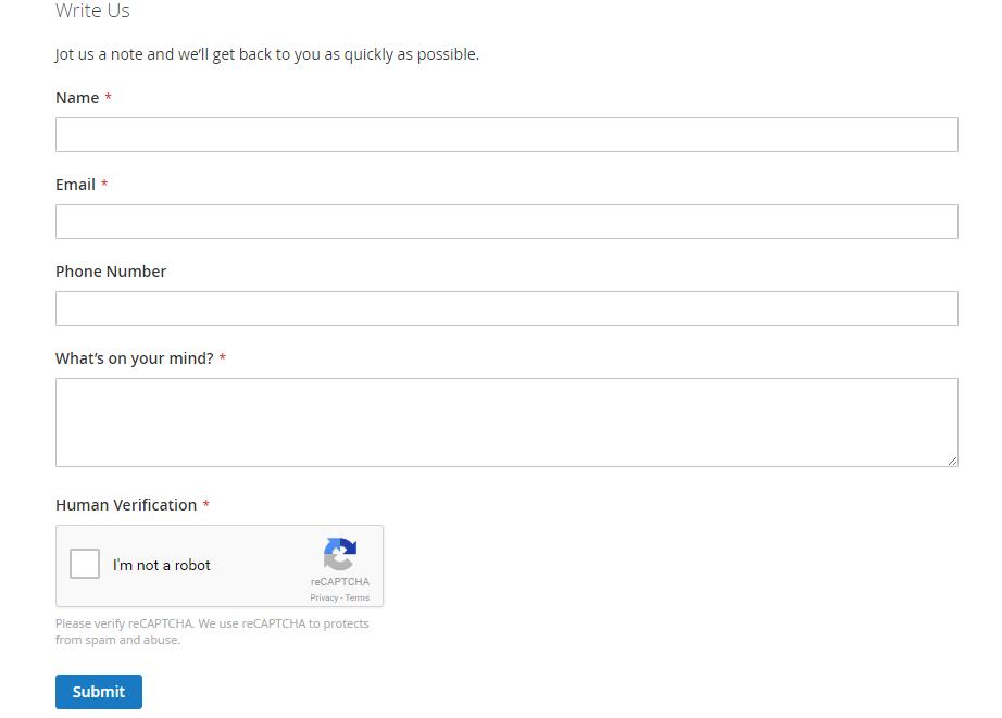reCAPTCHA v2 in contact form