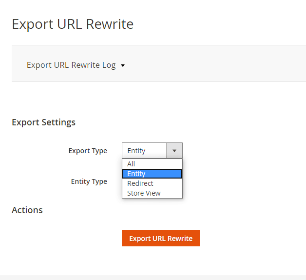 Export  URL rewrites