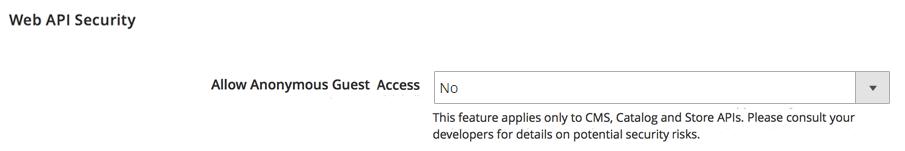 API guest access