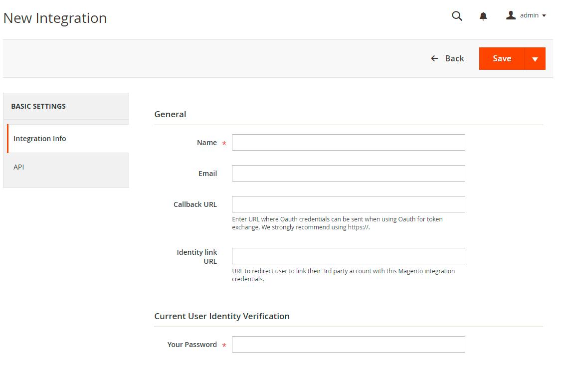 API integration infos