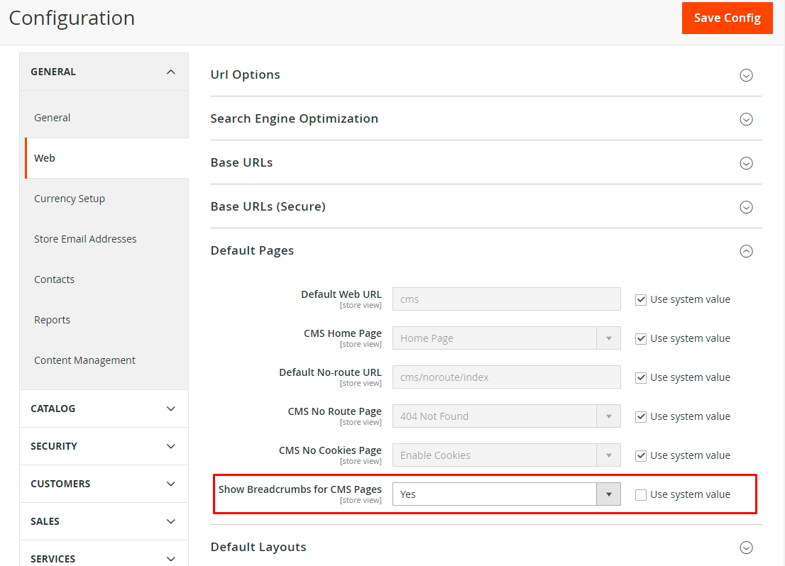 Magento 2 Show breadcrumbs CMS Pages